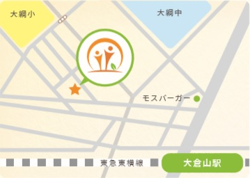 map of Otolaryngology clinic in Yokohama-Kōhoku-ku